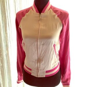 Juicy Couture Reversible Silk Bomber Jacket